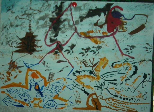 Barbouillage de feuilles-1995